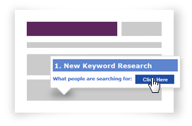 Content management system keyword research